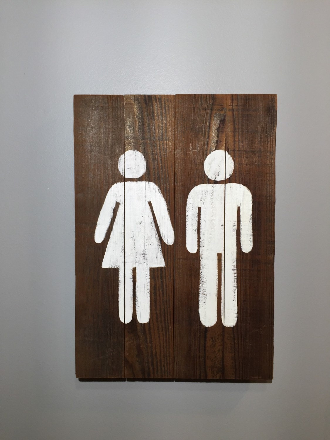 Restroom Sign 10 X 14 Wood Bathroom Sign By Signs