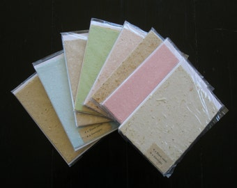 4 Blank Cards, Handmade Recycled Paper. Card Making Supplies