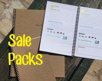 Sale Packs of Journals #3 {Travel Reflection Journal, Anniversary Journal, Running Journal}