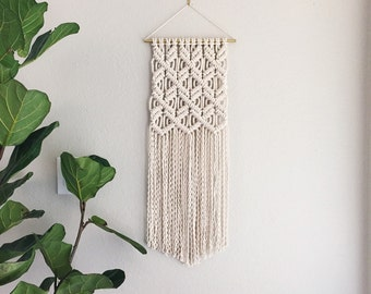 Macrame Patterns/Macrame Pattern/ Macrame Wall Hanging Pattern/Wall Hanging/Modern Macrame/Pattern/Name: Clove Hitch on Repeat