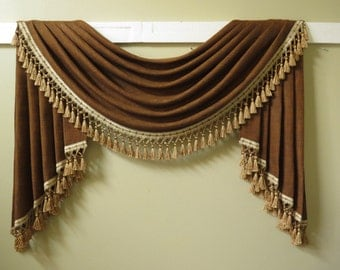 Traditional swag and jabot valance for order