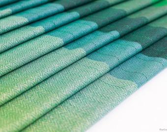 A la Folie. Green emerald cottolin, M-Twill, size 5