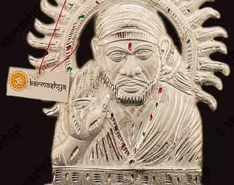 "12"" Shri Sri Shirdi Sai Baba Saibaba Sairam Sai Ram Statue Idol Black Metal Om WMS0036"