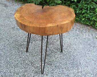 Rustic Refuge Wood Slab Table