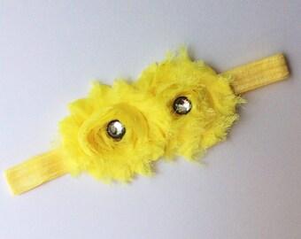 baby girl headband; yellow  baby girl headband; yellow headband; baby headband