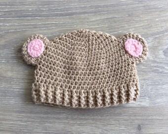 Crochet baby Hat baby Crochet bear hat bear