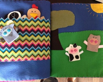 Farm Animal Finger Puppets w/ Play Pages