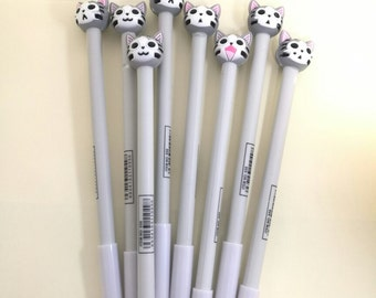 4 pcs/lot 0.5mm Cute Cartoon Cat Plastic Gel Pens Lovely Kawaii Pen Novelty Item Japanese School Supplies