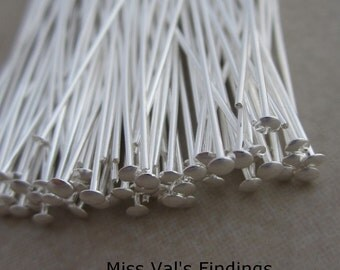 300 silver plated 2 inch headpins 21 gauge