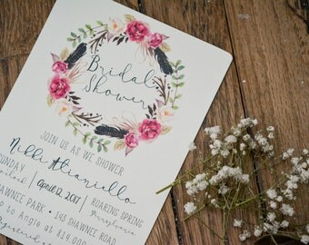 FLORAL Bridal Shower Invitations #1