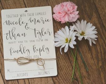RUSTIC|Wedding Invitations Set #64