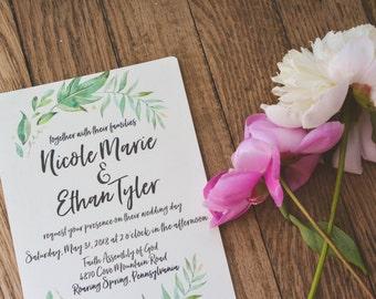 FLORAL|Wedding Invitation Set #76