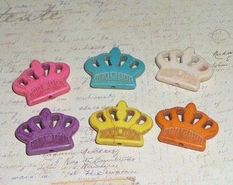 Howlite Crown Princess Magnets