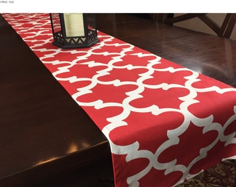 SALE! -  Red Table Runner - Table Runner - Kitchen Table Runner - Red Table Runner