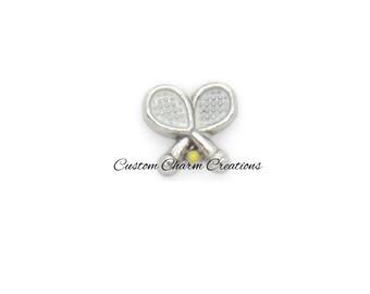 Floating Locket Charm • Tennis Racquet • Ball • Memory Charm    - SPT34