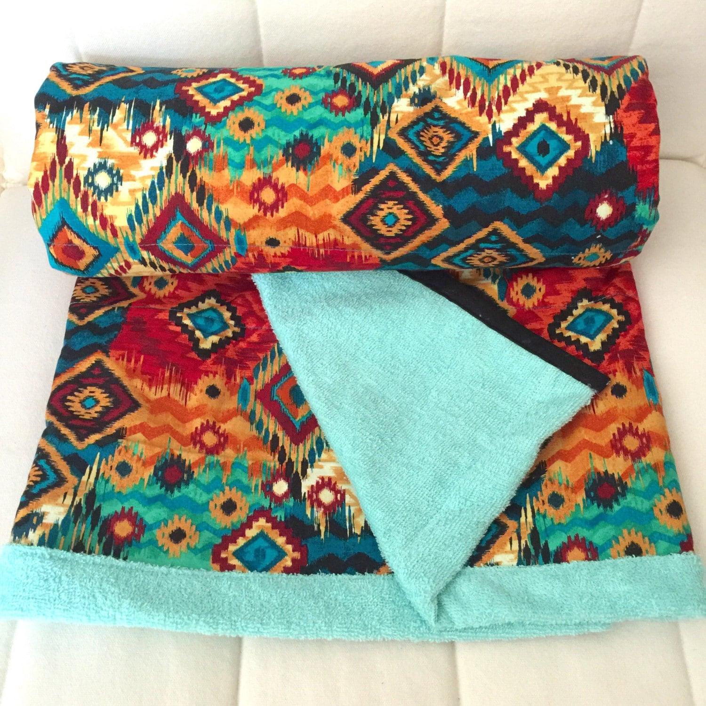 Aztec Baby Blanket Towel Quilt // Birthday Gift// GEOMETRIC