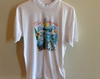 Vintage Bahamas tourist shirt - LARGE