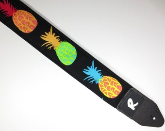 Guitar Strap - Pineapple - Tropical - Double Padded