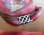 Celtic Wrap Bracelet, Red Wrap Bracelet
