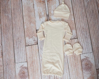 All Natural 100% Made in the USA Organic Knit Gown