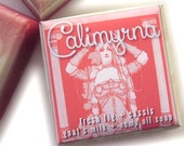 fig cassis soap, Calimyrna goat's milk and hemp oil fresh fig and cassis soap
