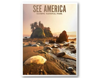 Olympic National Park - See America Poster & Postcard
