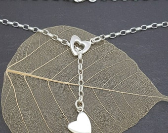 Sliding Hearts Necklace