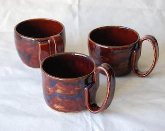 Firebrick Red and Blue Indigo Float Coffee Mugs