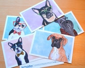 Cute dog postcard set wea...