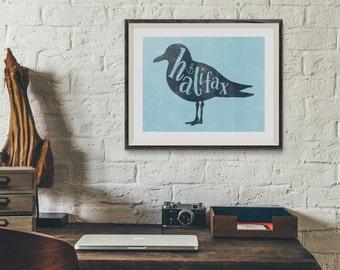Halifax Nova Scotian Seagull 8x10 Art Print