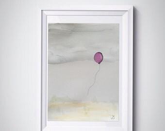 Freedom - ORIGINAL watercolor by uooops - homedecor - children bedroom