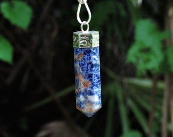 Blue Sodalite Crystal Jewelry Pendant