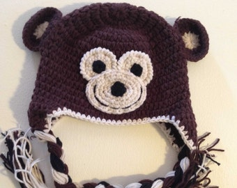 Monkey Business Crochet Kids Hat