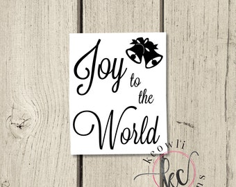 Joy to the World Vinyl Decal