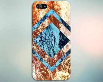 Geometric Diamond x Ocean Waves Phone Case, iPhone 7, iPhone 7 Plus, Tough iPhone Case, Galaxy s8, Samsung Galaxy Case, Note 5, CASE ESCAPE