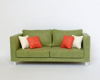 Doll Furniture 1/6 scale Olive Sofa