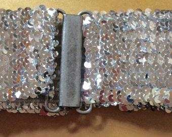 Silver sequins disco belt