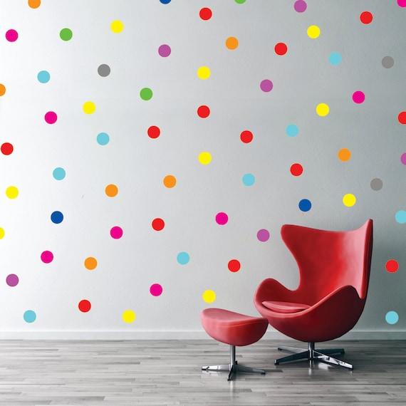 polka dot wall decal confetti rainbow polka dot pattern polka dot wall stickers amp decals for the modern nursery