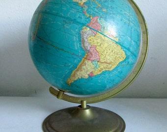 "Vintage Crams Imperial 12""  World Globe / World Map"