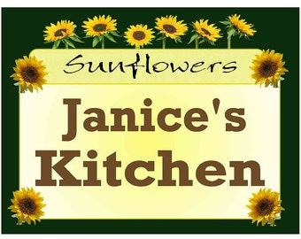 Personalized Sunflower Design Kitchen MAGNET ~ FREE SHIPPING