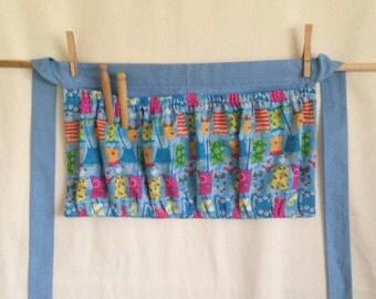 Clothespin apron, harvest apron, gardening apron, egg carrying, multi-purpose apron/ half apron
