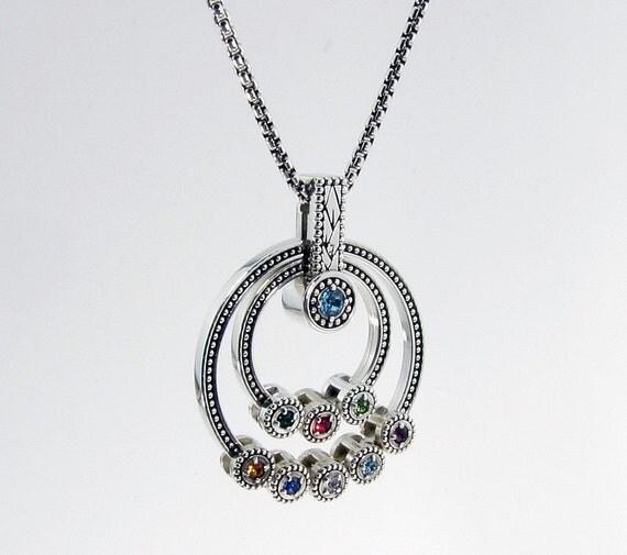 grandmother birthstone necklace children 39 s birthstone. Black Bedroom Furniture Sets. Home Design Ideas