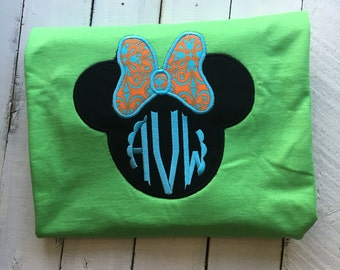 Minnie Mouse Bow Applique Tee
