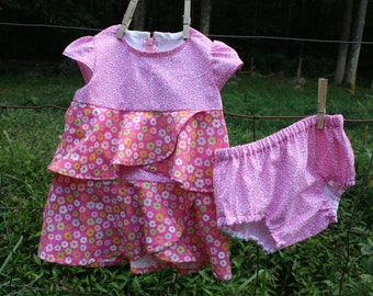 Size 2T Girls dress and Diaper cover