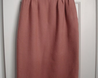 vintage HERMES dusty rose skirt size XS