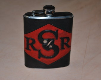 Custom Leather Wrapped Flask