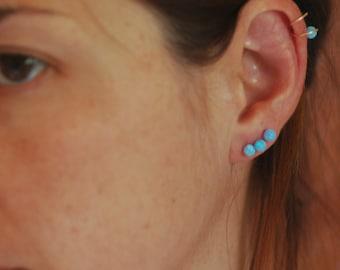 Helix earring opal,Cartilage earring,gold filled cartilage ring, Tragus Cartilage hoop/sterling silver ring /silver925 hoop,tragus earring