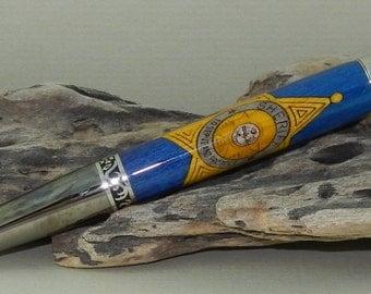 Laser Inlay Sheriff Badge  Pen