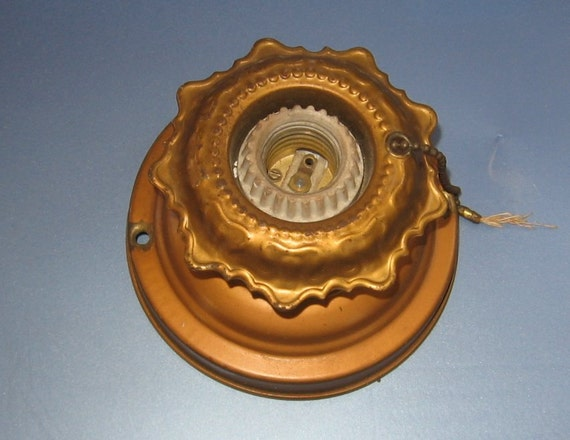 Antique Ceiling Fixture With Pull Chain Porcelain Socket
