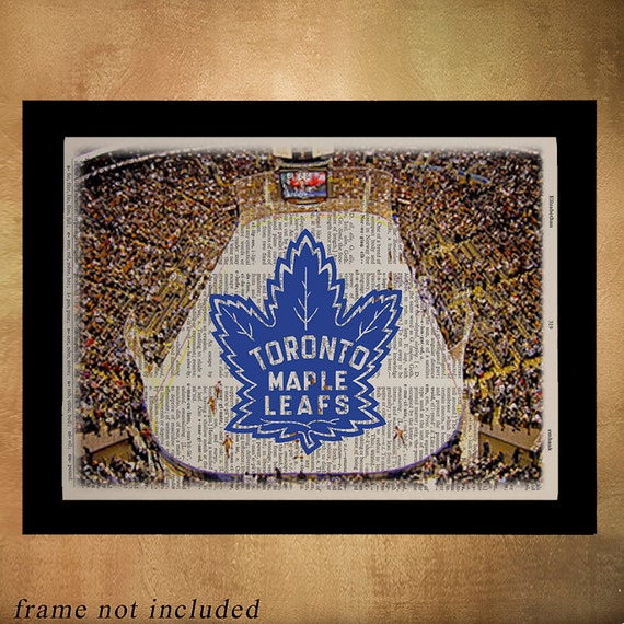Man Cave Gift Ideas Canada : Toronto maple leafs dictionary art print man cave